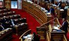 Στιγμιότυπο από τη Βουλή στις 17/3/2020