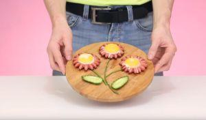 Πρόταση μαγειρέματος για αυγά τηγανιτά με λουκάνικο