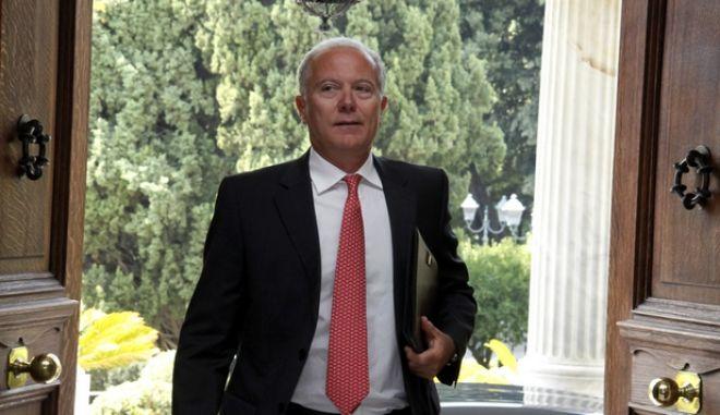31-8-2011-ΑΘΗΝΑ-Προεδρικό Μέγαρο, ο Διοικητή της Τραπέζης της Ελλάδος Γιώργος Προβόπουλος .(EUROKINISSI-ΓΙΩΡΓΟΣ ΚΟΝΤΑΡΙΝΗΣ)