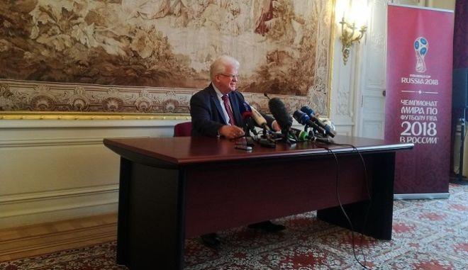 Ο  Βλαντιμίρ Τσιζόφ, πρέσβης της Ρωσίας στην Ευρωπαϊκή Ένωση