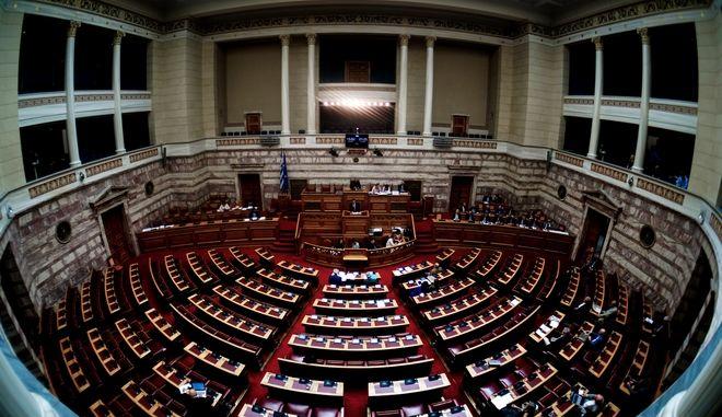 Άποψη από το εσωτερικό της Βουλής
