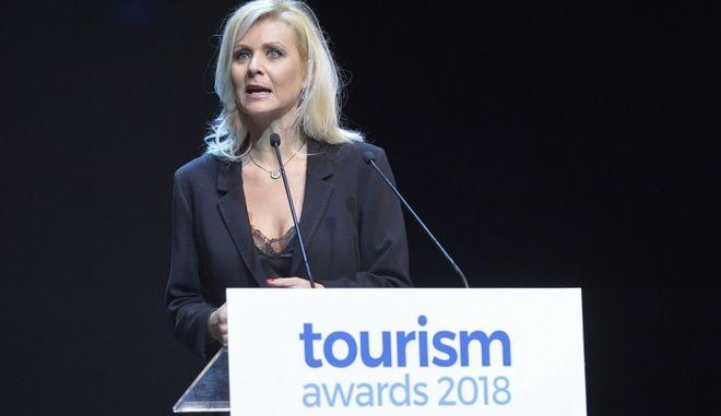 Η Κατερίνα Γκαγκάκη στην απονομή των Tourism Awards 2018