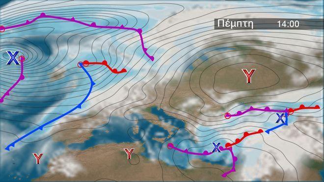 Ο καιρός στην Ευρώπη την Πέμπτη