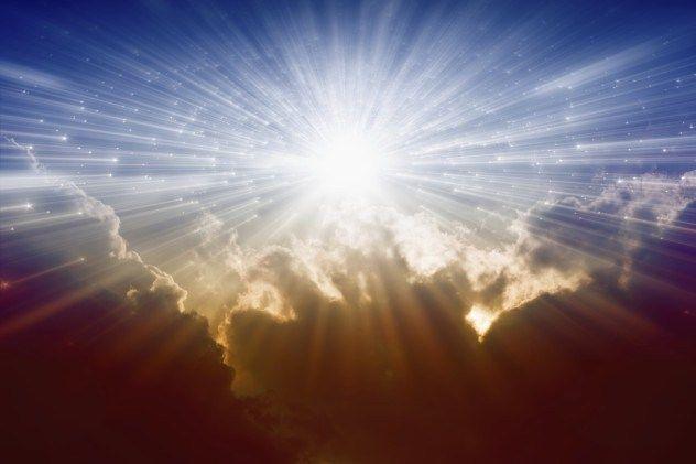 Light from avobe