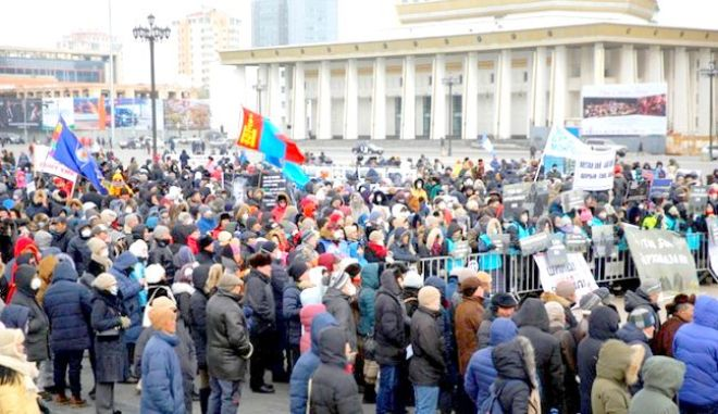 Φωτογραφία από τις διαδηλώσεις