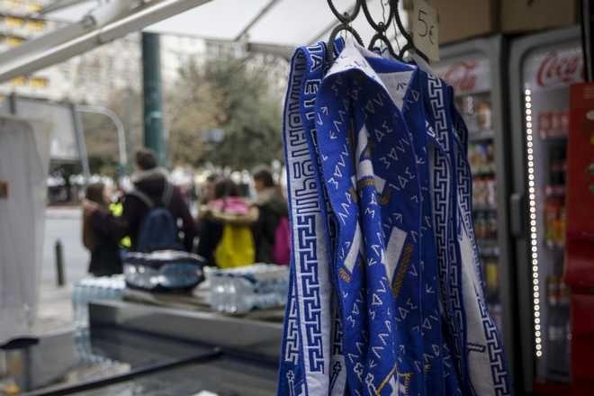 Προετοιμασίες στην πλατεία Συντάγματος για το συλλαλητήριο για την Μακεδονία την Παρασκευή, 2 Φεβρουαρίου 2018. (EUROKINISSI/ΓΙΑΝΝΗΣ ΠΑΝΑΓΟΠΟΥΛΟΣ)