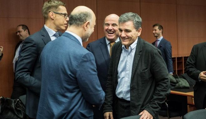 Eurogroup meeting, at EU Headquarters, in Brussels, Belgium, on November 23, 2015 /   Eurogroup,    ,  , ,  23 , 2015