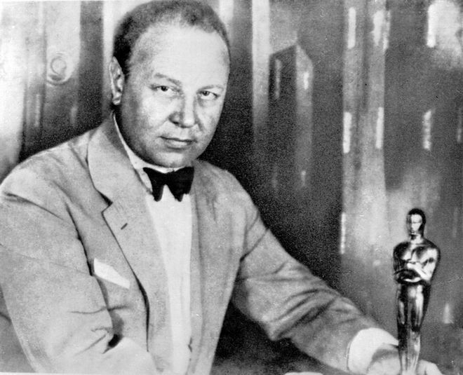 THE FIRST -- Our 1928 picture shows German actor Emil Jannings with the first Oscar during the Academy Award presented for his 1927 film