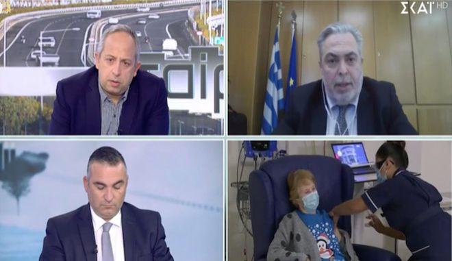"""Πρόεδρος ΕΟΦ: """"Το πρώτο δεκαπανθήμερο του Ιανουαρίου ο εμβολιασμός"""""""