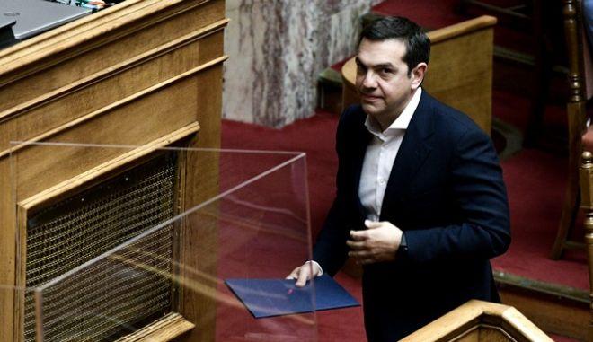 Ο πρόεδρος του ΣΥΡΙΖΑ Π.Σ., Αλέξης Τσίπρας