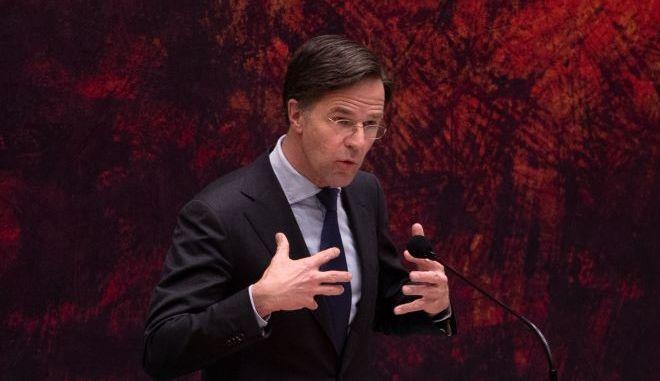 Ο πρωθυπουργός της Ολλανδίας, Μαρκ Ρούτε.