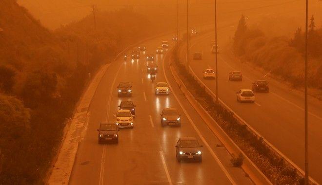 Αφρικανική σκόνη (EUROKINISSI/ΣΤΕΦΑΝΟΣ ΡΑΠΑΝΗΣ)