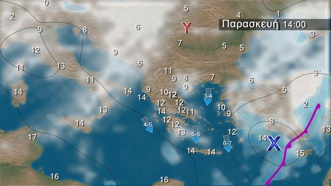 Ο καιρός στην Ελλάδα την Παρασκευή