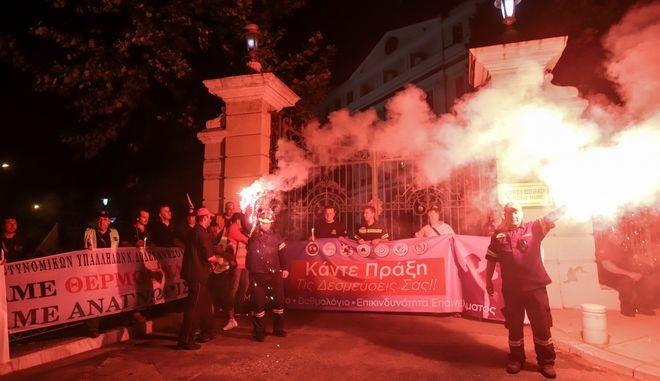 Συλλαλητήριο των ένστολων ενόψει της 84ης ΔΕΘ