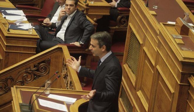 Συζήτηση προ Ημερησίας Διατάξεως στην Βουλή με πρωτοβουλία της Προέδρου της Κοινοβουλευτικής Ομάδας της Δημοκρατικής Συμπαράταξης, (ΠΑ.ΣΟ.Κ β ΔΗΜ.ΑΡ.) Φώφης Γεννηματά σε επίπεδο Αρχηγών Κομμάτων, σχετικά με τον πρωτογενή τομέα και τους αγρότες, την Τετάρτη 18 Ιανουαρίου 2017. (EUROKINISSI/ΓΙΩΡΓΟΣ ΚΟΝΤΑΡΙΝΗΣ)