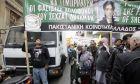 Οι γονείς του δολοφονημένου μετανάστη από το Πακιστάν Σ. Λουκμάν στο συλλαλητήριο ενάντια σε κάθε ρατσιστική πολιτική, που διοργανώθηκε από συνδικάτα, φορείς και συλλογικότητες το Σάββατο 18 Ιανουαρίου 2014, στα Πετράλωνα, με αφορμή τη συμπλήρωση ενός έτους από τη ρατσιστική εν ψυχρώ δολοφονία του παιδιού τους, την ώρα που πήγαινε στη δουλειά του. Η συγκέντρωση έγινε στην Πλατεία Μερκούρη και ακολούθησε πορεία προς το σημείο της δολοφονίας με κατάληξη το σταθμό ΗΣΑΠ των Πετραλώνων.  (EUROKINISSI/ΓΕΩΡΓΙΑ ΠΑΝΑΓΟΠΟΥΛΟΥ)