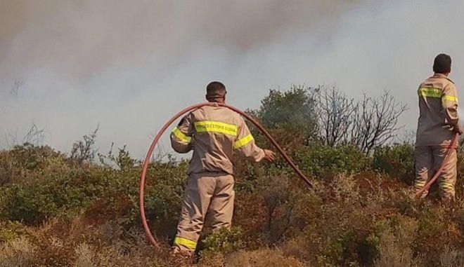 Πυροσβέστες επί το έργον - φωτογραφία αρχείου