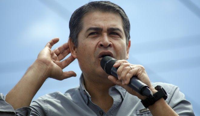 Ο πρόεδρος της Ονδούρας, Χουάν Ορλάντο Ερνάντες
