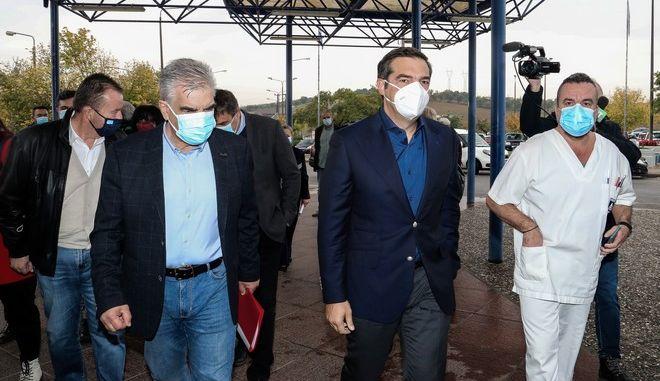 Επίσκεψη του προέδρου του ΣΥΡΙΖΑ-Προοδευτική Συμμαχία, Αλέξη Τσίπρα στην Λάρισα