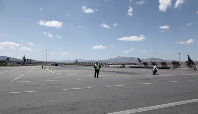 General atmosphere from Eleftherios Venizelos airport before the arrival of Russian President Vladimir Putin in Athens, Greece on May 27, 2016. /                  , , 27  2016.