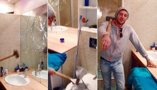 Βίντεο: Σπάει το διαμέρισμα, επειδή δεν του επέστρεψαν την εγγύηση