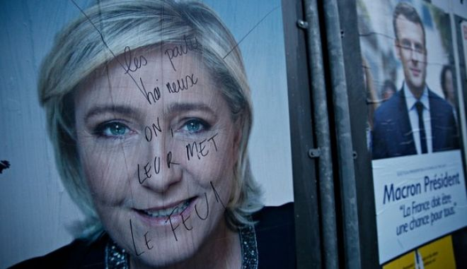 First round of the French presidential election in Lille, France on Apr. 23, 2017/           23 , 2017