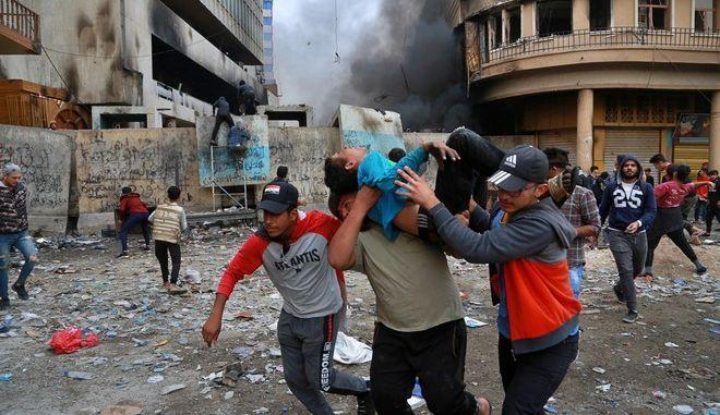 Τραυματισμός διαδηλωτή σε κινητοποίηση στη Βαγδάτη