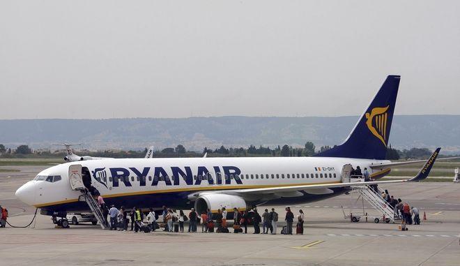 Αεροπλάνο της Ryanair (AP Photo/Claude Paris, File)