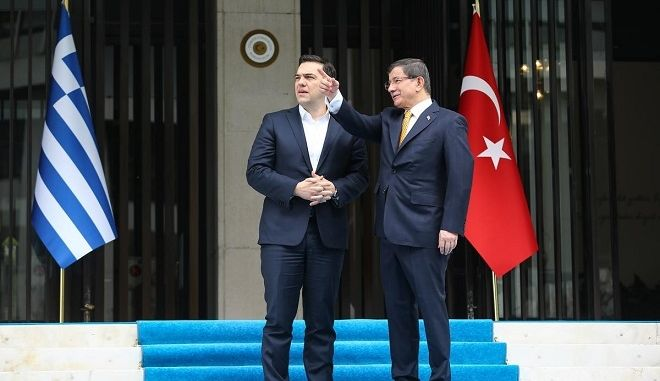 The greek Prime Minister Alexis Tsipras at the 4th meeting of the Greek - Turkey bilateral High-Level Cooperation Council, in Izmir, Turkey, on March 8, 2016 /      4      ,  , ,  8 , 2016