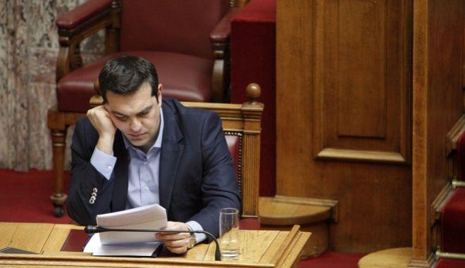 Συζήτηση προ Ημερησίας Διατάξεως, στην Βουλή, σε επίπεδο Αρχηγών Κομμάτων, σχετικά με την ασφάλεια των πολιτών. (EUROKINISSI/ΓΙΩΡΓΟΣ ΚΟΝΤΑΡΙΝΗΣ)
