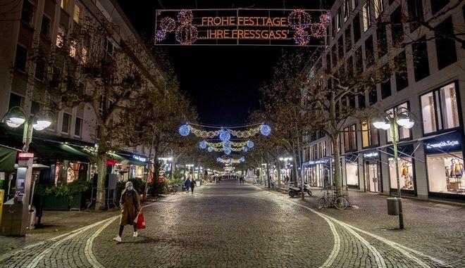 Εικόνα από την Φρανκφούρτη σε καιρό κορονοϊού