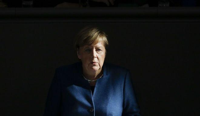 Η Γερμανίδα καγκελάριος Άνγκελα Μέρκελ στην Μπούντεσταγκ