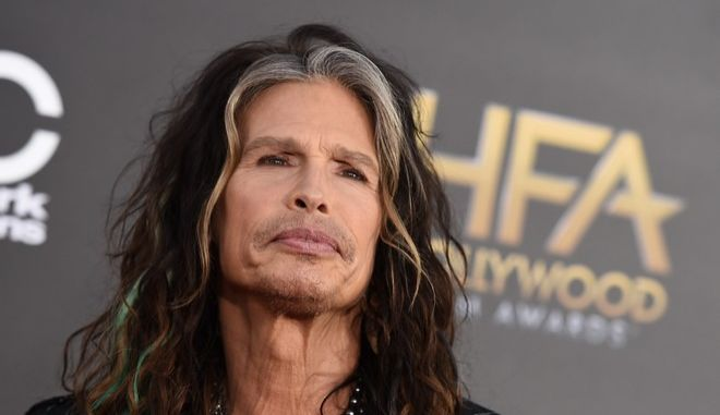 Steven Tyler arrives at the Hollywood Film Awards at the Palladium on Friday, Nov. 14, 2014, in Los Angeles. (Photo by Jordan Strauss/Invision/AP)
