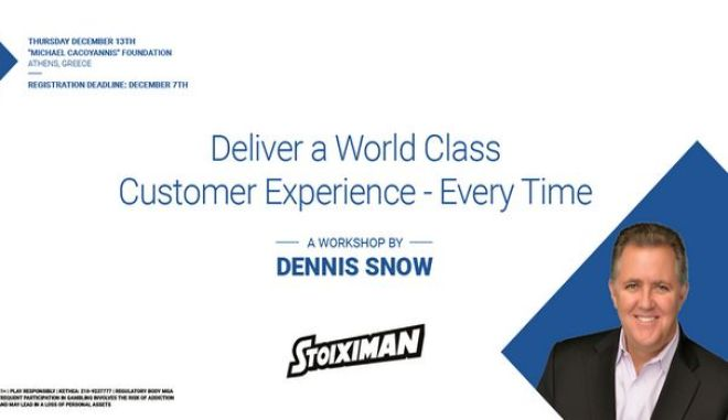 "Stoiximan Presents: ""Deliver a World Class Customer Experience – Every Time"""