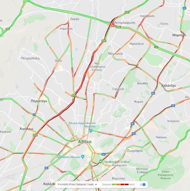 Κίνηση στους δρόμους: Η βροχή έφερε κυκλοφοριακό χάος