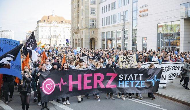 Πορεία κατά του αντι-ισλαμικού και ξενοφοβικού κινήματος Pegida
