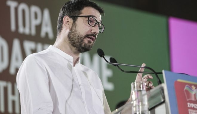 Ο εκπρόσωπος Τύπου του ΣΥΡΙΖΑ-ΠΣ Νάσος Ηλιόπουλος