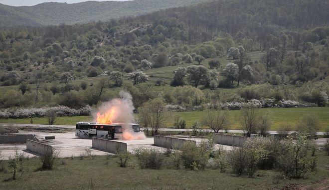 Φωτιά σε λεωφορείο στο Ihtiman (φωτογραφία αρχείου)