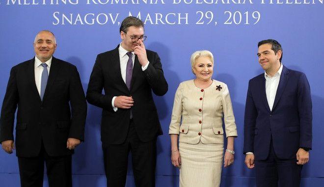 Στιγμιότυπο από την τετραμερή Ελλάδας - Βουλγαρίας - Σερβίας - Ρουμανίας στο Βουκουρέστι