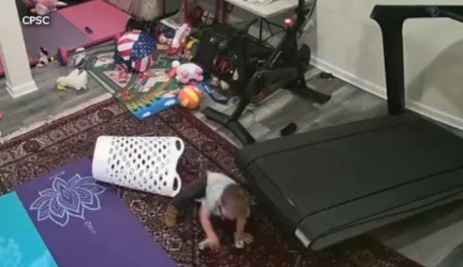 Γιατί δεν πρέπει να αφήνετε ποτέ ένα μωρό κοντά σε διάδρομο γυμναστικής