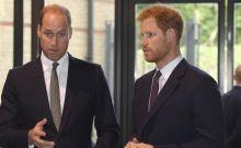 O πρίγκιπας Γουίλιαμ και Δούκας του Camobridge (αριστερά) με τον αδερφό του πρίγκιπα Χάρι στο Λονδίνο