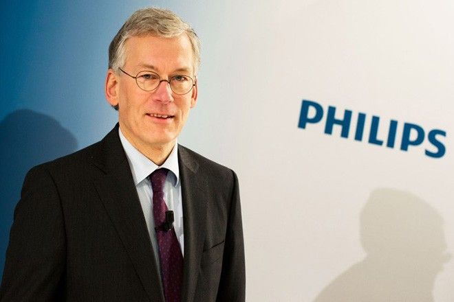 Mandatory Credit: Photo by Peter Dejong/AP/REX/Shutterstock (6791339a) Frans van Houten Philips CEO Frans van Houten arrives for a press conference in Amsterdam, Netherlands, . Royal Philips NV has reported a return to profitability in the fourth quarter, with operating profits up in all its main businesses: lighting, consumer appliances and health care equipment. The company Tuesday reported net profit of 409 million euros ($559 million), compared to a loss of 423 million euros in the same period a year earlier when it was fined 509 million euros for price-fixing in the TV market. Fourth quarter sales rose 0.6 percent to 6.80 billion euros, which for Philips would have been a 7 percent rise comparing like-for-like businesses and stripping currency effects Netherlands Earns Philips, Amsterdam, Netherlands