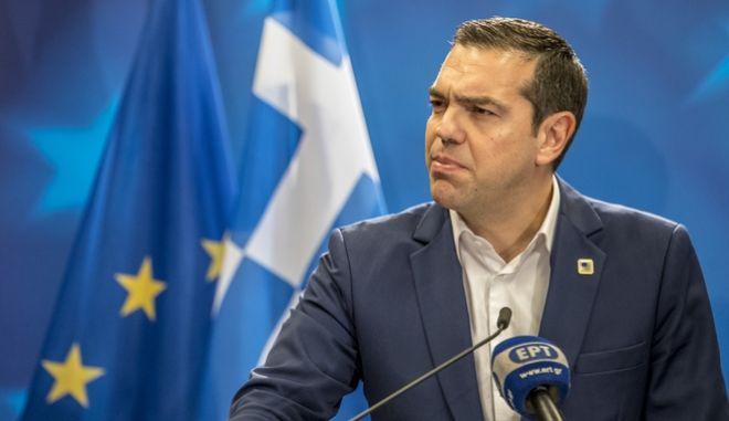 Ο Πρωθυπουργός Αλέξης Τσίπρας στην Σύνοδο Κορυφής, στις Βρυξέλλες την Παρασκευή 23 Φεβρουαρίου 2018. (EUROKINISSI/ΕΥΡΩΠΑΪΚΗ ΕΝΩΣΗ)