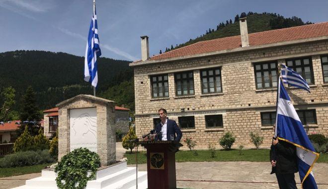 Ο Κώστας Μπακογιάννης στην εκδήλωση για τα 74 χρόνια από την σύγκληση του Εθνικού Συμβουλίου στους Κορυσχάδες
