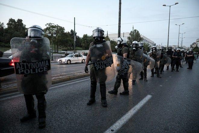 Ενταση στην κινητοποίηση αριστερών οργανώσεων ενάντια στην επίσκεψη του Υπ. Εξωτερικών των ΗΠΑ στην Ελλάδα την Δευτέρα 28 Σεπτεμβρίου 2020