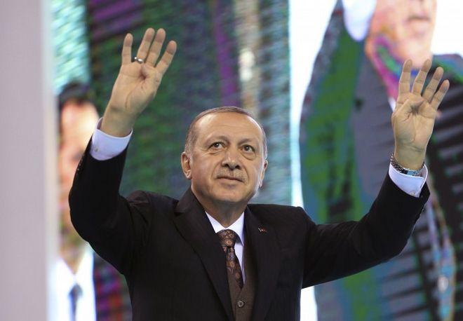 Ο Ερντογάν έκανε τον χαιρετισμό των Γκρίζων Λύκων