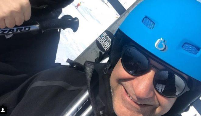Ο Κυριάκος Μητσοτάκης στα Καλάβρυτα για σκι