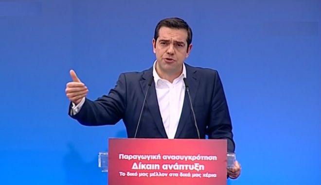 Ο πρωθυπουργός από το βήμα του 11ου Περιφερειακού Συνεδρίου στη Θεσσαλονίκη