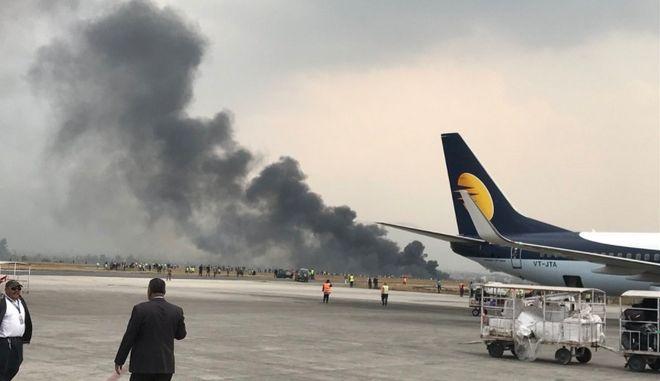 Συντριβή αεροσκάφους στο αεροδρόμιο του Κατμαντού
