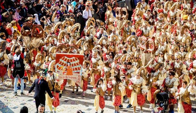 Στιγμιότυπο από το καρναβάλι της Πάτρας